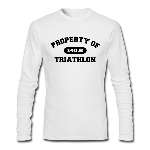 Property of Triathlon 140.6 - Men's AA Long Sleeve Tee - Men's Long Sleeve T-Shirt by Next Level