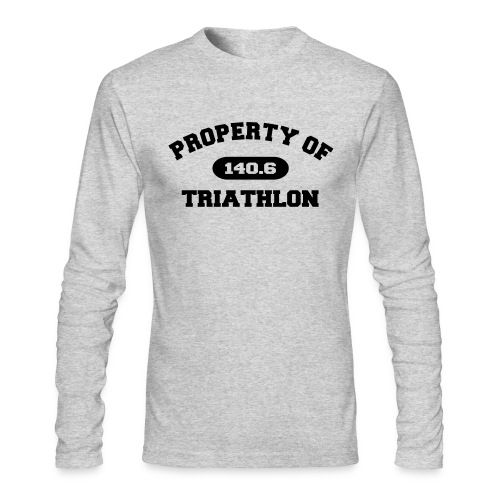Property of Triathlon 140.6 - Men's AA Long Sleeve Tee - Men's Long Sleeve T-Shirt by Next Level