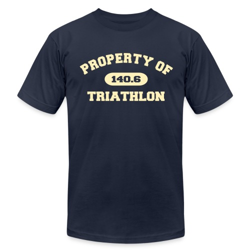 Property of Triathlon 140.6 - Men's AA Tee - Men's Fine Jersey T-Shirt