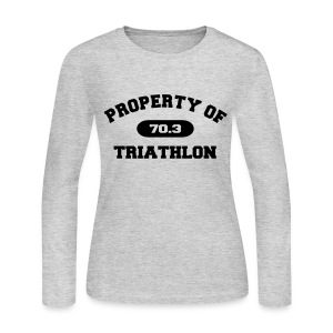 Property of Triathlon 70.3 - Women's Long Sleeve Jersey Tee - Women's Long Sleeve Jersey T-Shirt