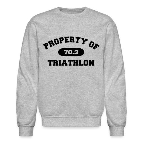 Property of Triathlon 70.3 - Men's Crewneck Sweatshirt - Crewneck Sweatshirt