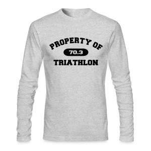 Property of Triathlon 70.3 - Men's AA Long Sleeve Tee - Men's Long Sleeve T-Shirt by Next Level