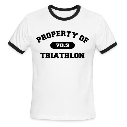 Property of Triathlon 70.3 - Men's Lightweight Ringer Tee - Men's Ringer T-Shirt