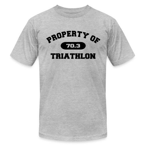 Property of Triathlon 70.3 - Men's AA Tee - Men's Fine Jersey T-Shirt