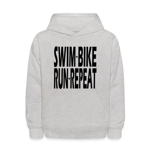 Swim Bike Run Repeat - Kids' Hoodie