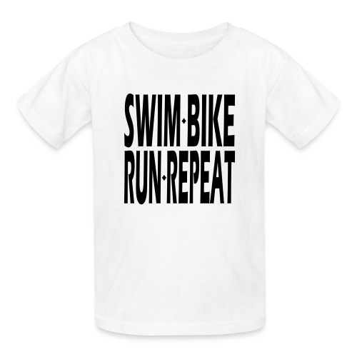 Swim Bike Run Repeat - Kids' T-Shirt