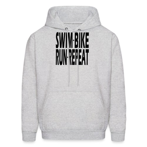 Swim Bike Run Repeat - Men's Hoodie