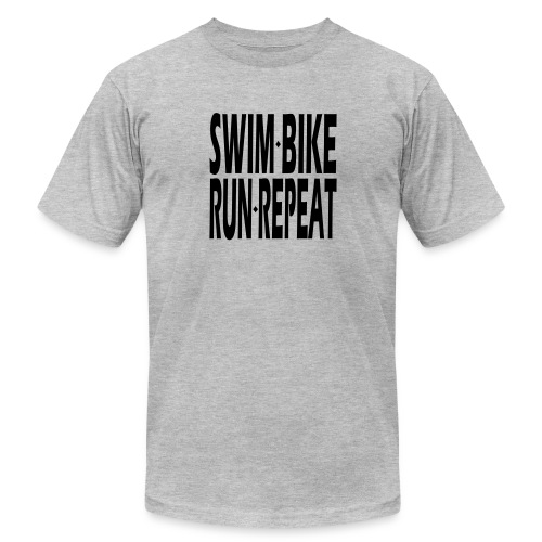 Swim Bike Run Repeat - Men's Fine Jersey T-Shirt