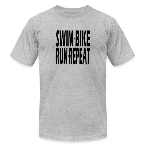 Swim Bike Run Repeat - Men's  Jersey T-Shirt