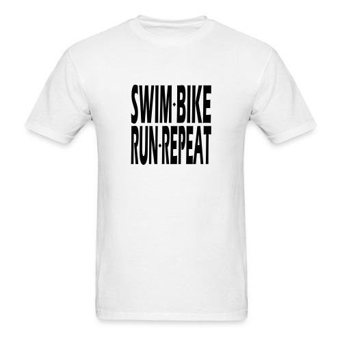 Swim Bike Run Repeat - Men's T-Shirt