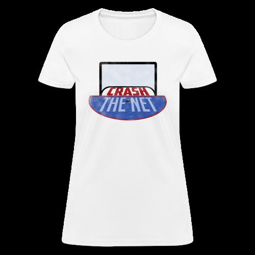 Crash The Net Ladies White T-Shirt - Women's T-Shirt