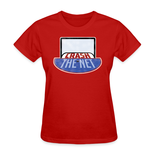Crash The Net Ladies Red T-Shirt - Women's T-Shirt