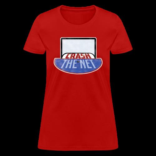 Crash The Net Ladies Red T-Shirt - Women's T-Shirt
