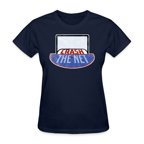 Crash The Net Ladies Navy T-Shirt - Women's T-Shirt