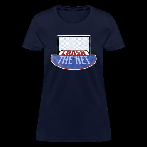Crash The Net Ladies Navy T-Shirt - Women's T-Shirt