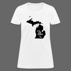 I'm with Stupid Ohio Women's Standard Weight T-Shirt - Women's T-Shirt