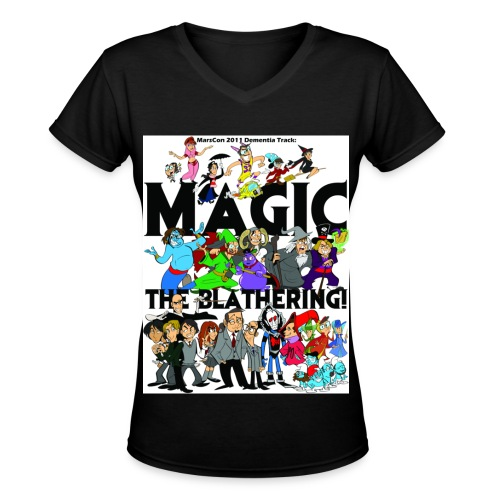 Women's v-neck Marscon 2011 black - Women's V-Neck T-Shirt