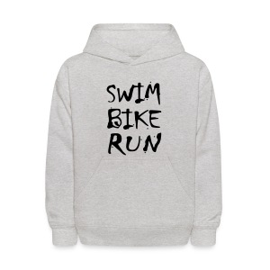 Swim Bike Run Dirty Design - Kids' Hoodie