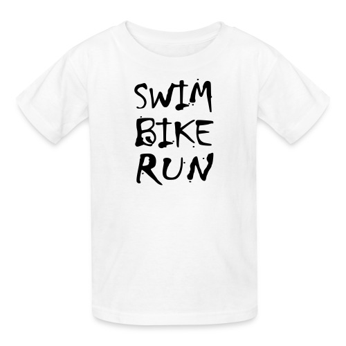 Swim Bike Run Dirty Design - Kids' T-Shirt