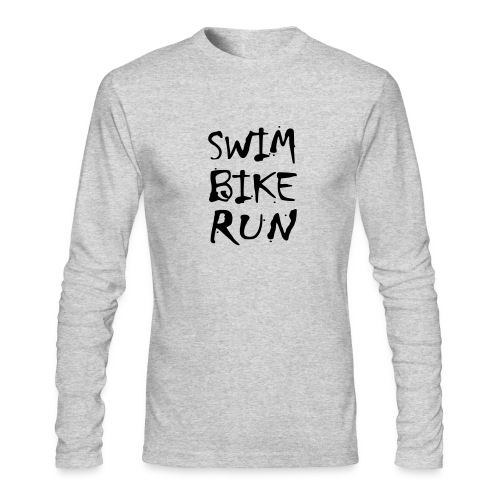 Swim Bike Run Dirty Design - Men's Long Sleeve T-Shirt by Next Level