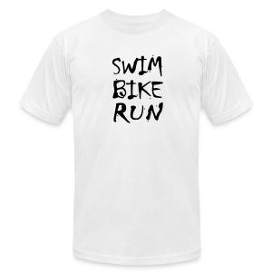 Swim Bike Run Dirty Design - Men's Fine Jersey T-Shirt