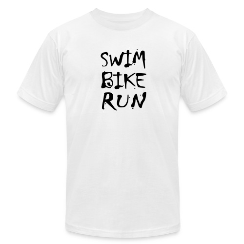 Swim Bike Run Dirty Design - Men's Fine Jersey T-Shirt