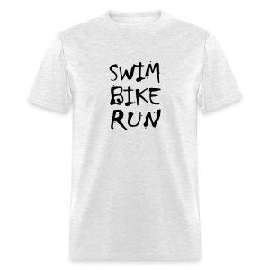 Swim Bike Run Dirty Design - Men's T-Shirt