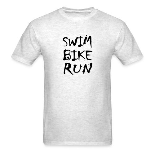 Swim Bike Run Dirty Design - Men's T-Shirt