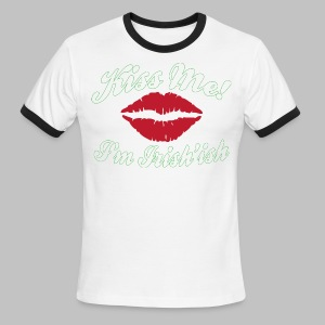 Kiss Me I'm Irish'ish Lips - Men's Ringer T-Shirt