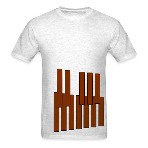 Marimba Keys Wraparound - Men's T-Shirt