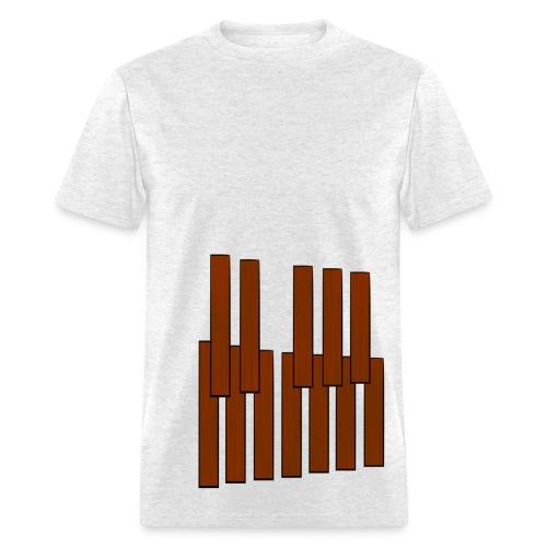 Marimba Keys Wraparound - Men's T-Shirt