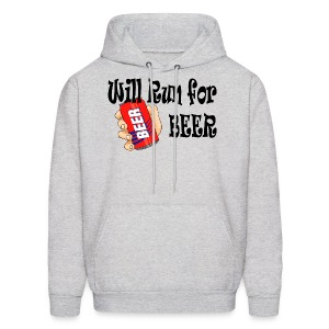 Will Run for Beer - Men's Hoodie