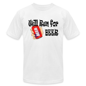 Will Run for Beer - Men's T-Shirt by American Apparel