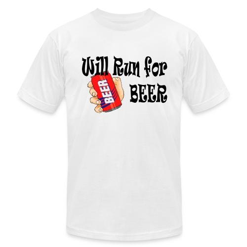 Will Run for Beer - Men's Fine Jersey T-Shirt