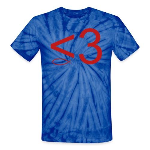 Fish Heart by EMOT - Unisex Tie Dye T-Shirt