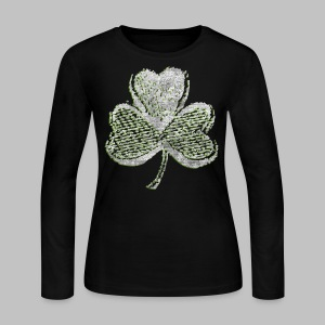 Old Shamrock Style - Women's Long Sleeve Jersey T-Shirt