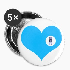 you are here - love and valentine's day gift Badges
