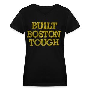 Boston Tough - Women's V-Neck T-Shirt