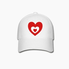 Heart in heart Caps