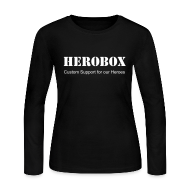 Long Sleeve Shirts ~ Women's Long Sleeve Jersey T-Shirt ~ Hero Sleeves