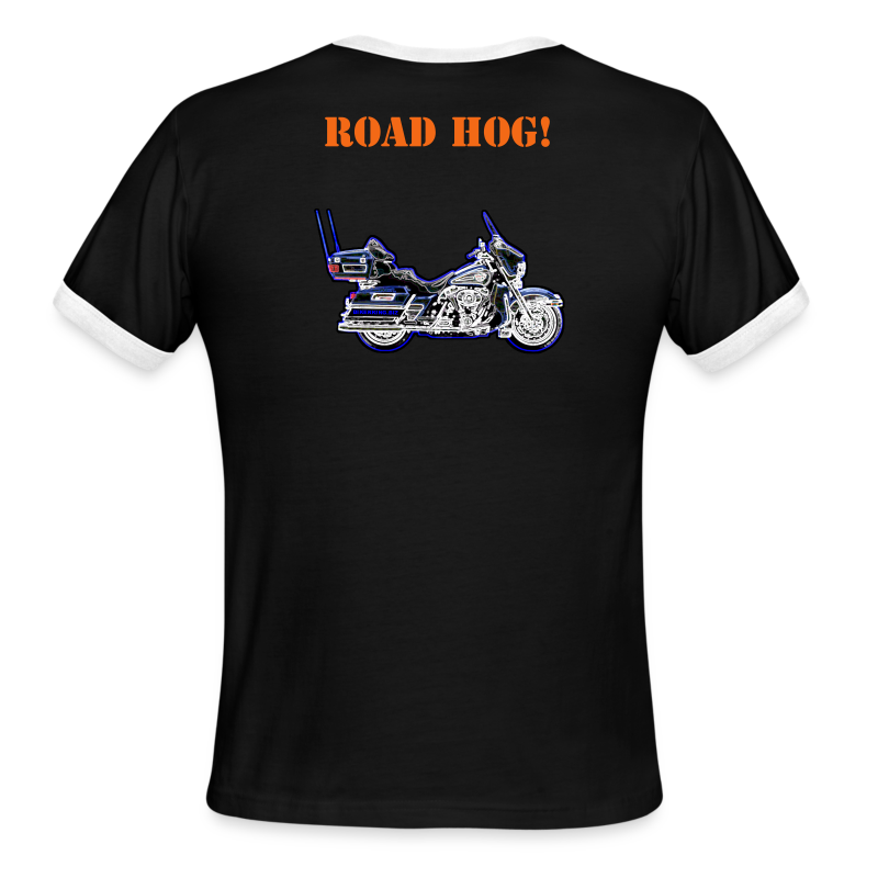 Men's L/W Ringer T, Hr-Back-RHog - Men's Ringer T-Shirt