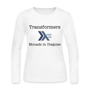 Transformers: Monads in Disguise for Women - Women's Long Sleeve Jersey T-Shirt