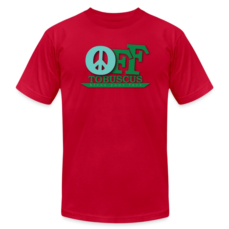 PEACE OFF - Tobuscus (american apparel) - Men's T-Shirt by American Apparel