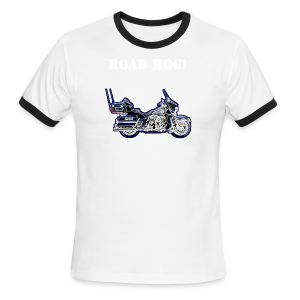 Men's L/W Ringer T, Hr-Front-RHog - Men's Ringer T-Shirt