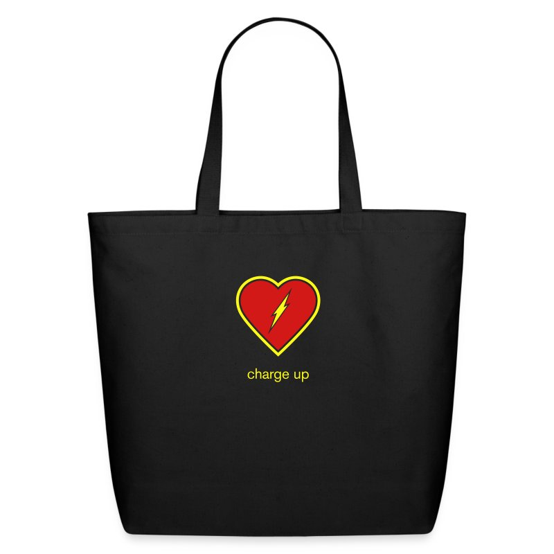 Charge Up Tote Bag - Eco-Friendly Cotton Tote