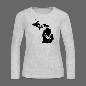 Yoopers and Trolls Women's Long Sleeve Jersey Tee - Women's Long Sleeve Jersey T-Shirt