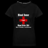 T-Shirts ~ Women's V-Neck T-Shirt ~ Women's V-Neck Blood Donor 2011 - Black