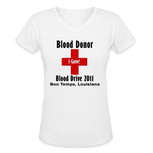Women's V-Neck Blood Donor 2011 - Women's V-Neck T-Shirt