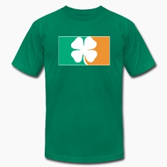 Irish Four Leaf Clover Flag T-Shirts