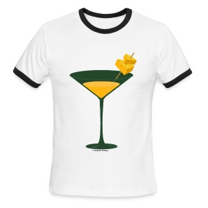 Green Bay Packer-tini ringer tee - Men's Ringer T-Shirt